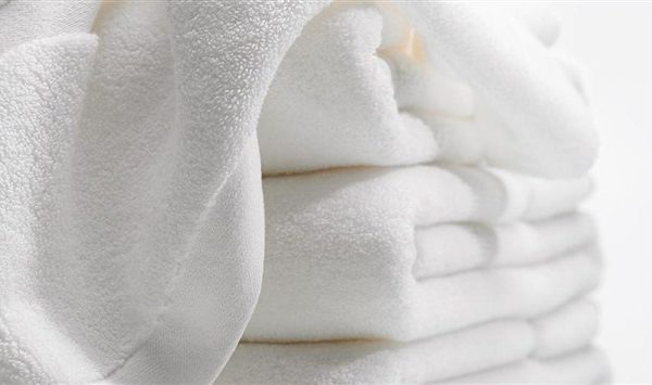 Fluffy white towels